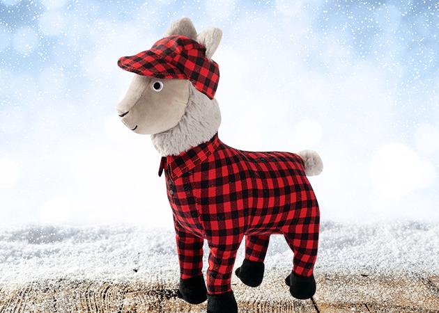 Prestige Christmas Plush Feelin Festive Pajama Llama Soft Toy