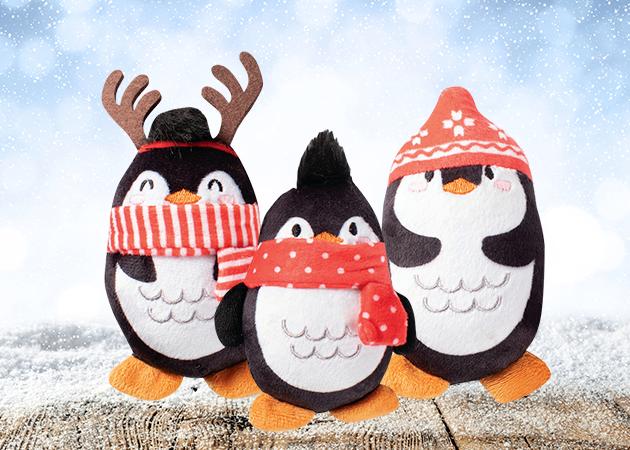 Prestige Christmas Plush Penguin Mini Toy Set - 3 Pack