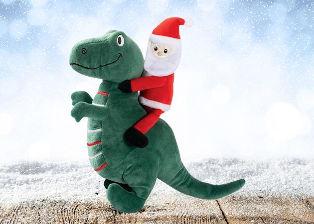 Prestige Christmas Plush Santa-Saurus Rex Soft Toy